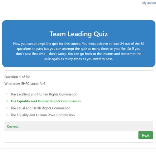 Team leading final quiz