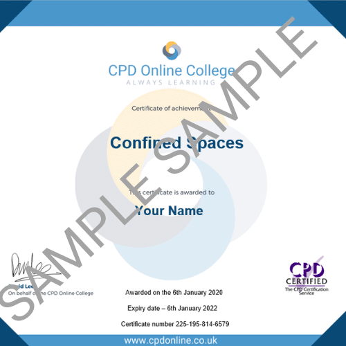 Confined Spaces PDF Certificate