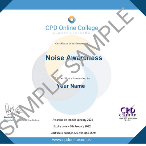 Noise Awareness PDF Certificate