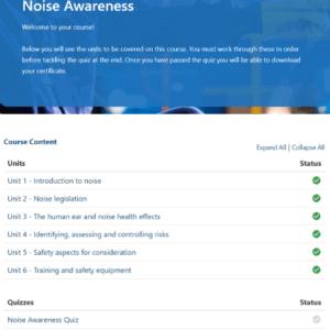 Noise Awareness Unit Slide