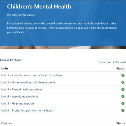 Children's mental health units slide