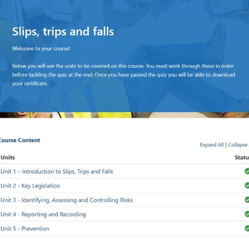 Slips, trips and falls unit page