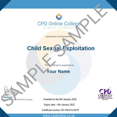 Child Sexual Exploitation PDF Certificate