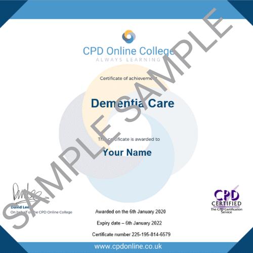 Dementia Care PDF Certificate
