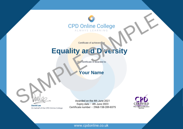 Equality and Diversity CPD Certificate