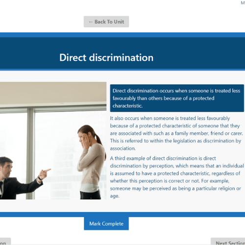 Equality and diversity unit 4 slide