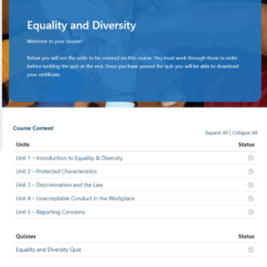 Equality and Diversity unit page