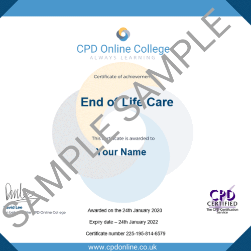 End of Life Care PDF Certificate