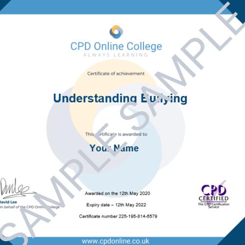 Understanding Bullying PDF Certificate