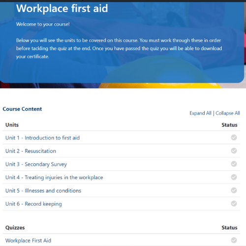 Workplace First Aid Units slide