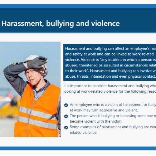 Violence at work slide