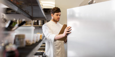 Chef using FIFO system to organise food