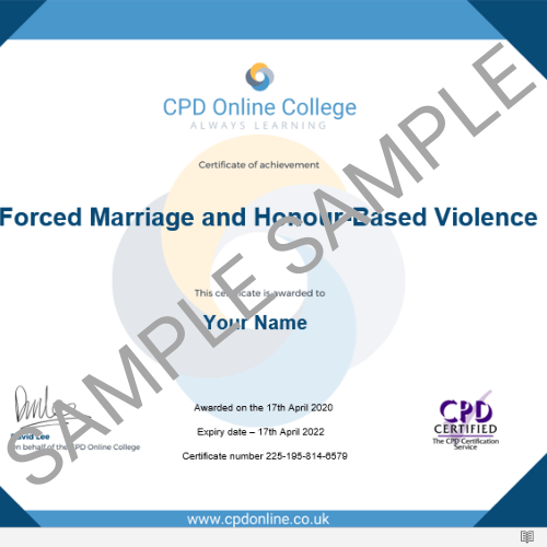 Forced Marriage PDF Certficate