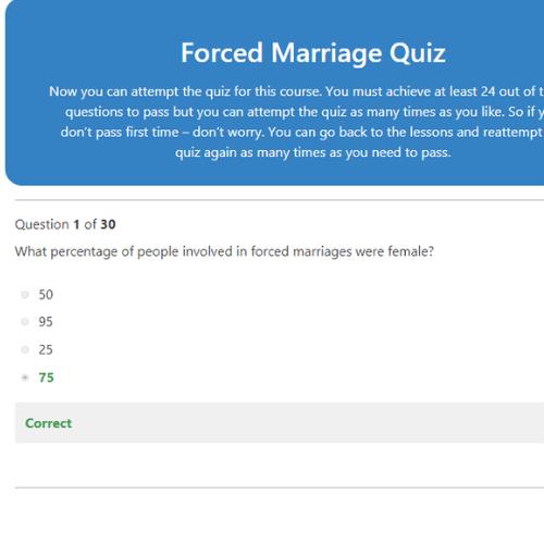 Forced Marriage PDF Quiz