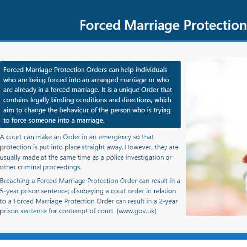 Forced Marriage PDF Section