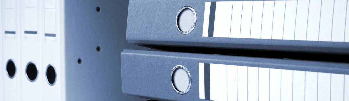 DPO files in a locked storeroom