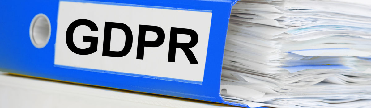 Folders full of GDPR guidance and legislation