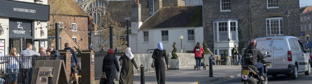 Muslim women on the street