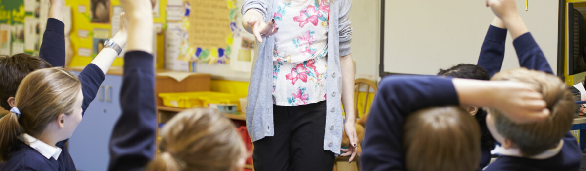 Teacher ensuring she is complying with the prevent duty to safeguard children