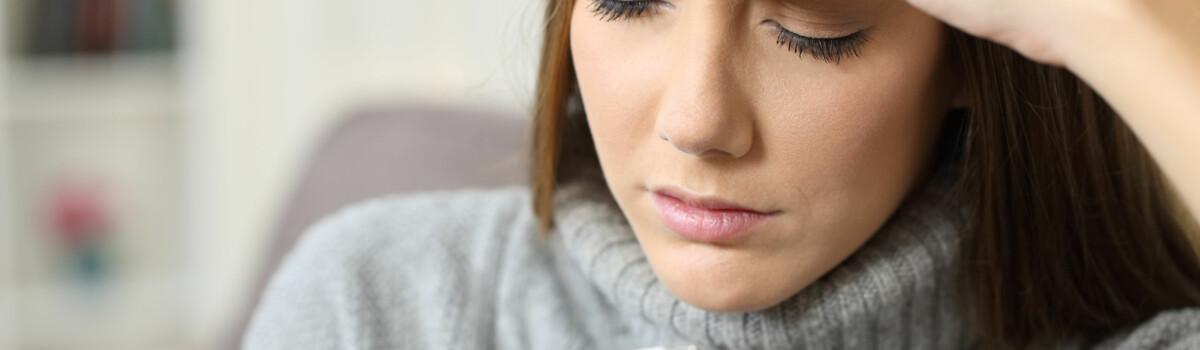 Woman suffering with Legionella symptoms