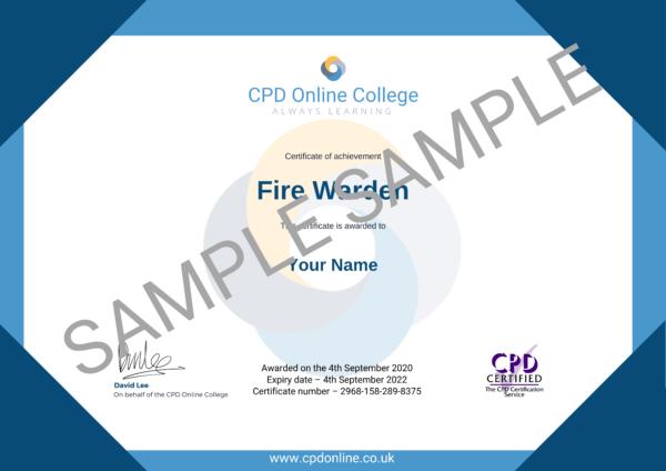 Fire Warden CPD Certificate