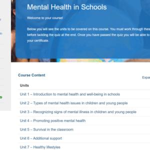 Mental Health in Schools Overview