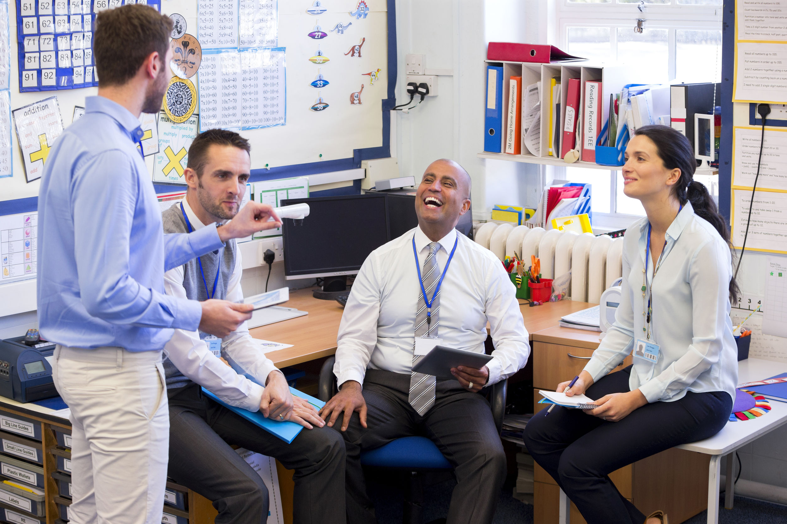 Promoting staff well being in schools