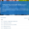 Safeguarding Vulnerable Adults Level 3 Overview