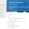 Workplace Mental Health Introduction