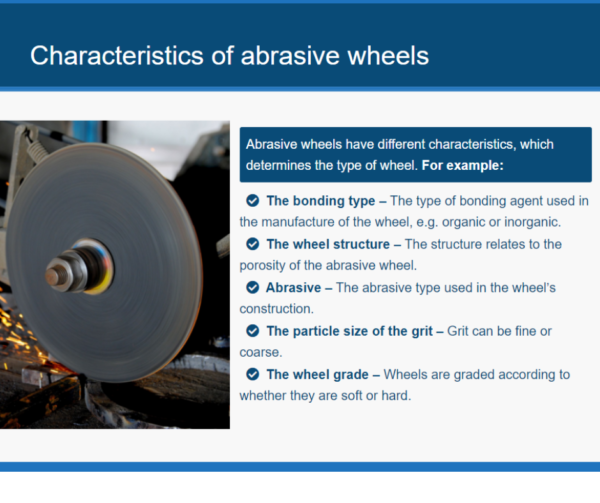 Abrasive Wheels Unit Slide