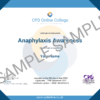 Anaphylaxis Awareness CPD Certificate