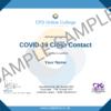 COVID-19 Close Contact CPD Certificate