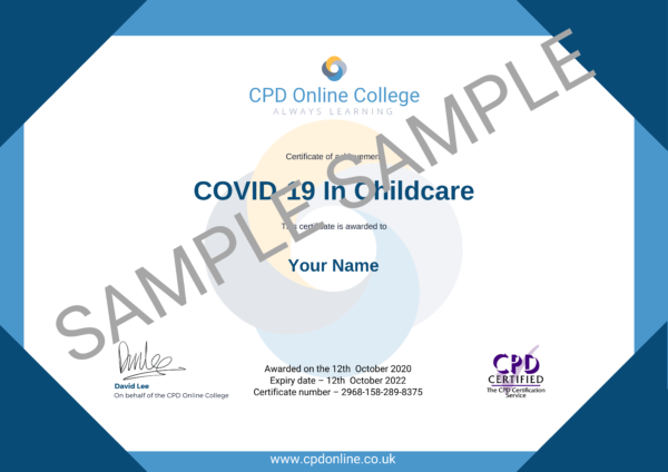 COVID-19 In Childcare CPD Certificate