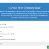 COVID-19 In Childcare Quiz Question