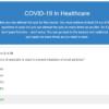 COVID-19 In Healthcare Quiz Question