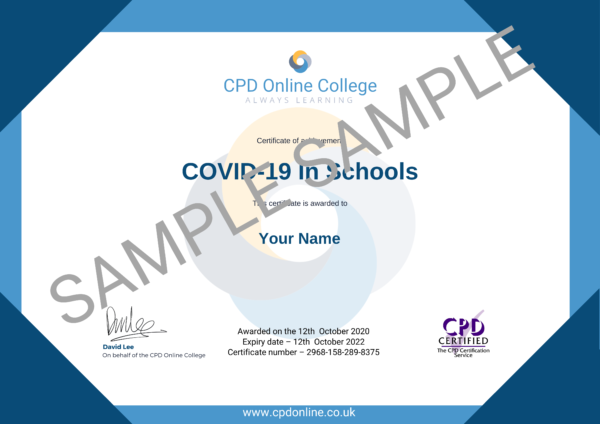 COVID-19 In Schools CPD Certificate
