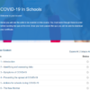 COVID-19 In Schools Overview