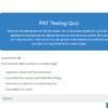 PAT Testing Quiz Question