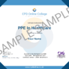 PPE In Healthcare CPD Certificate