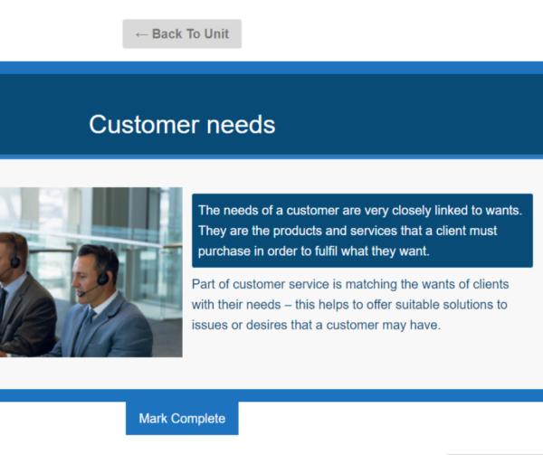 Customer Service Skills Unit Slide