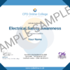 Electrical Safety Awareness CPD Certificate