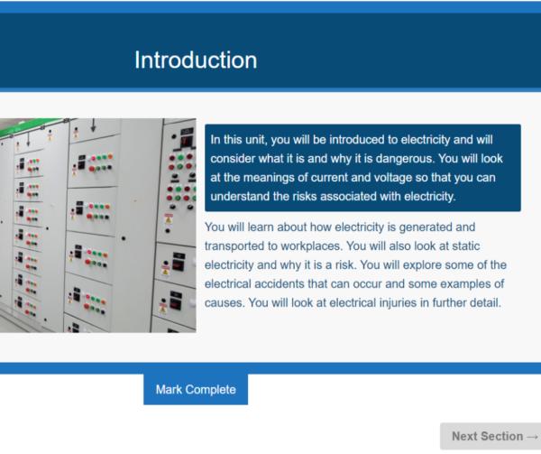 Electrical Safety Awareness Unit Slide