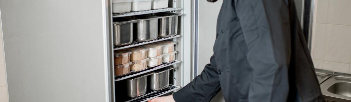 Check using FIFO method for industrial fridge