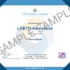 LGBTQ Awareness CPD Certificate