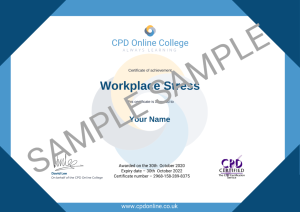 Workplace Stress CPD Certificate