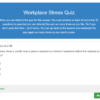 Workplace Stress Quiz Question