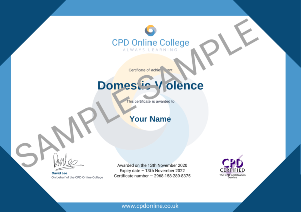 Domestic Violence CPD Certificate