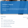 Domestic Violence Course Overview