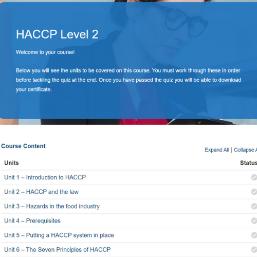HACCP Level 2 Overview