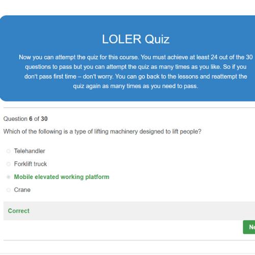 LOLER Course Quiz Question